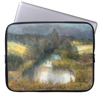 Capa De Notebook lagoa do outono
