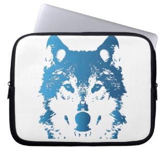 Capa De Notebook Lobo do azul de gelo da ilustração