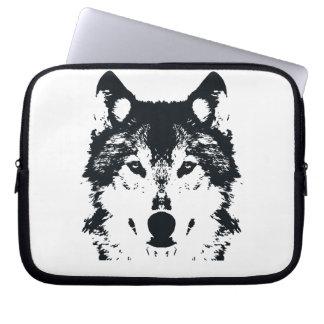 Capa De Notebook Lobo preto da ilustração