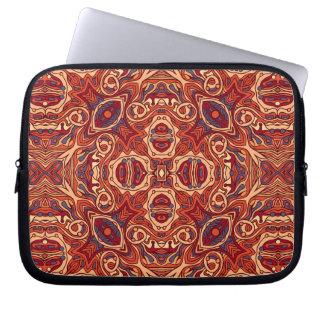 Capa De Notebook Mão colorida abstrata design encaracolado tirado