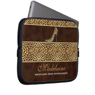 Capa De Notebook Matiz douradas da chita no impressão do animal