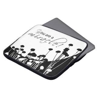 Capa De Notebook Milagre da recuperação, preto e branco