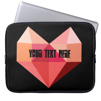 Capa De Notebook Modelo customizável do coração