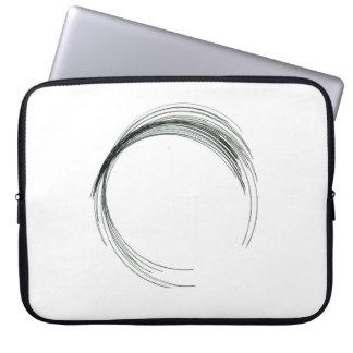 Capa De Notebook modo branco do rabisco do preto redondo abstrato