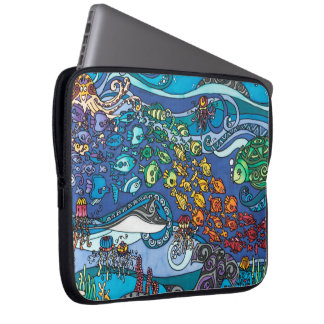 """Capa De Notebook Neopreno 15"""" a bolsa de laptop: Sob a série do mar"""