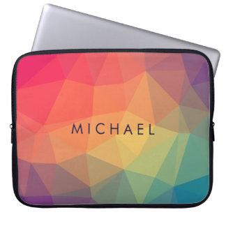 Capa De Notebook O triângulo poligonal elegante colorido adiciona