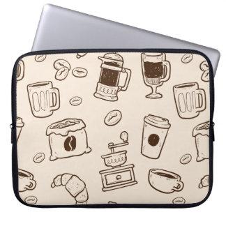 Capa De Notebook Os feijões de café de Brown ilustraram o teste