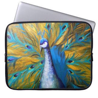 Capa De Notebook Pavão dourado - arte de Kimberly Turnbull