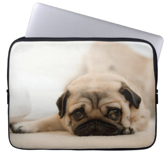 Capa De Notebook Pug da fêmea de Tan