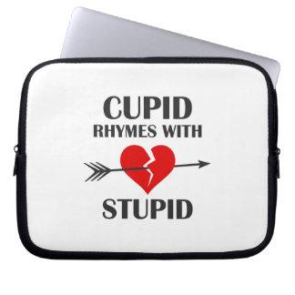 Capa De Notebook Rimas do Cupido com dia dos namorados estúpido