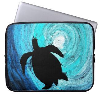 Capa De Notebook Silhueta da tartaruga de mar