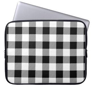 Capa De Notebook Teste padrão clássico B&W da xadrez da verificação