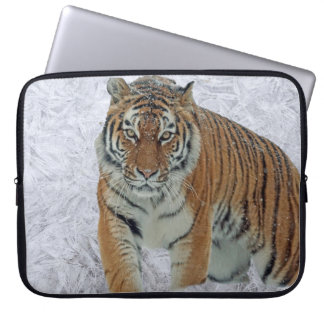 Capa De Notebook Tigre na bolsa de laptop dos flocos de neve