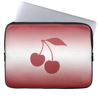 Capa De Notebook Vermelho de cereja ao inclinação branco