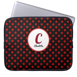Capa De Notebook Vermelho feito sob encomenda das bolinhas com