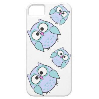 Capa de telefone 5/5S azul do iPhone da coruja de