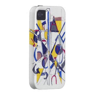 Capa de telefone abstrata capinhas para iPhone 4/4S