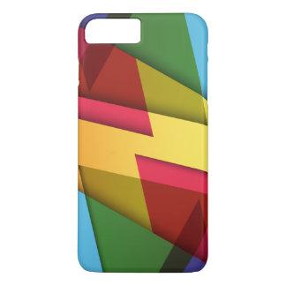 Capa de telefone abstrata colorida e esclarecido