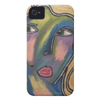 Capa de telefone abstrata da cara capa para iPhone 4 Case-Mate