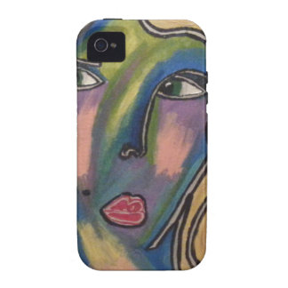 Capa de telefone abstrata da cara capinhas para iPhone 4/4S