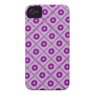 Capa de telefone abstrata do design floral do roxo