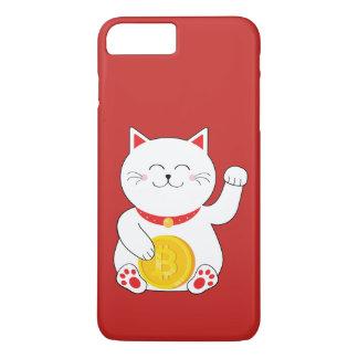 Capa de telefone afortunada de Bitcoin do gato de
