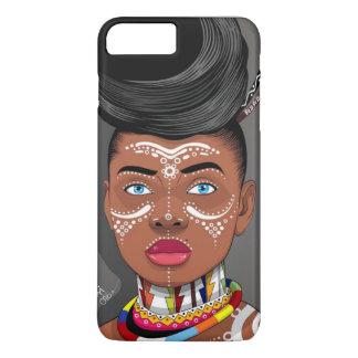 Capa de telefone africana da rainha