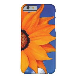 Capa de telefone alaranjada da flor e do céu capa barely there para iPhone 6