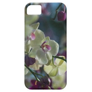 Capa de telefone amarela da orquídea