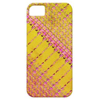 Capa de telefone amarela e cor-de-rosa Funky para