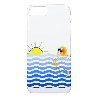 Capa de telefone astuta da praia