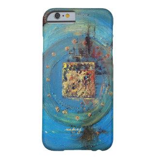 Capa de telefone azul abstrata da arte de Ka'aba Capa Barely There Para iPhone 6