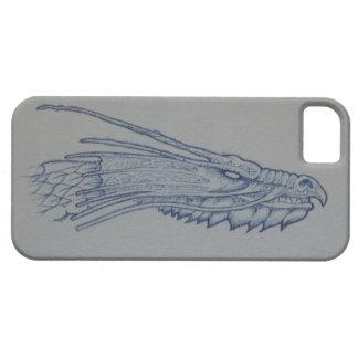 Capa Barely There Para iPhone 5 Capa de telefone azul da cabeça do dragão