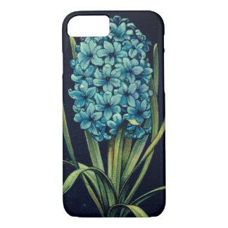 Capa de telefone azul da flor do jacinto do