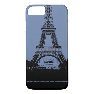 Capa de telefone azul da torre Eiffel