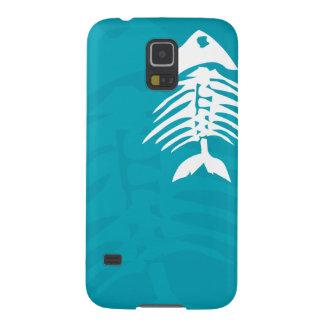 Capa de telefone azul do Aqua S5 dos ossos de Capinha Galaxy S5
