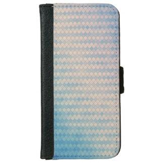 Capa de telefone azul e cor-de-rosa da carteira do