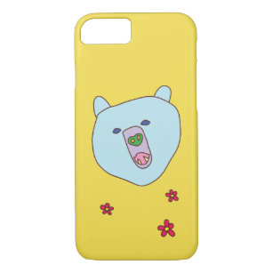 Capa de telefone bonito da cara do urso