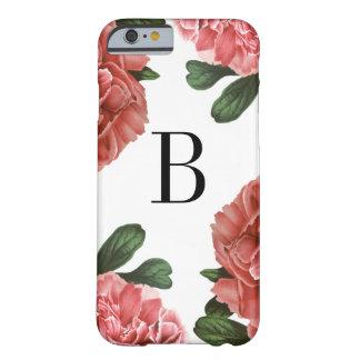 Capa de telefone botânica floral do monograma do capa barely there para iPhone 6