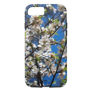 Capa de telefone branca das flores de cerejeira