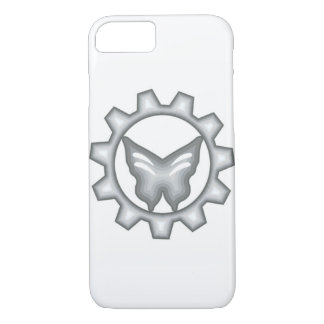 Capa de telefone branca do logotipo do projeto