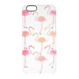 Capa de telefone clara do flamingo