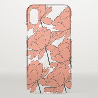 Capa de telefone clara floral alaranjada do iPhone