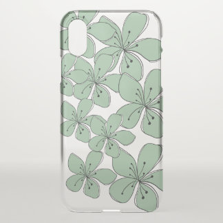 Capa de telefone clara floral do iPhone X