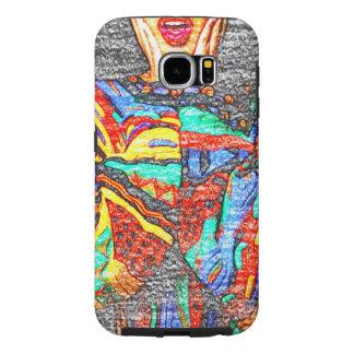 Capa de telefone colorida da galáxia S6 de 90s