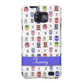 Capa de telefone colorida de Samsung das corujas Capa Galaxy SII
