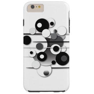 """Capa de telefone com dos """"design preto e branco"""