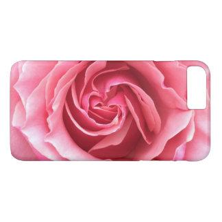 Capa de telefone com fim acima da foto do rosa do