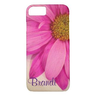 Capa de telefone cor-de-rosa bonito das pétalas