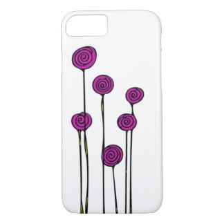 Capa de telefone cor-de-rosa da flor